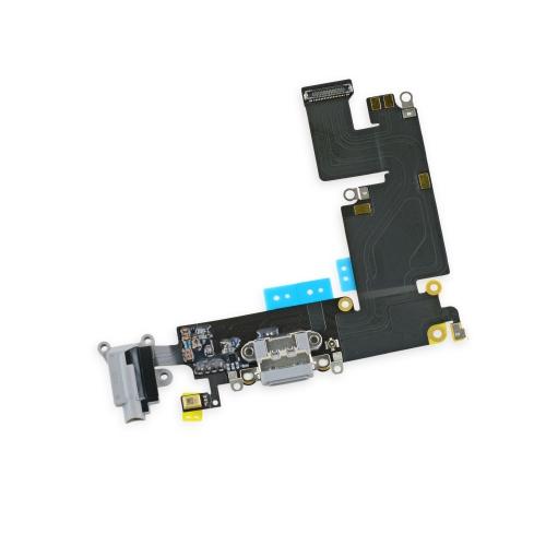 Шлейф для iPhone 6 Plus разъем зарядки (Белый)