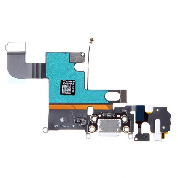 Шлейф для iPhone 6  разъем зарядки (Серый)