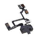 Шлейф для iPhone 4 разъем для наушников (черный)