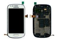Дисплей в сборе с тачскрином Samsung Galaxy S3 mini i8190 + frame (white)
