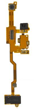 Шлейф для Nokia X6 верхний с камерой и разъемом под гарнитуру (оригинал)